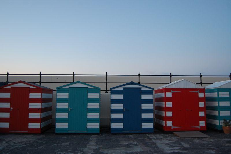 beachhuts at North Berwick
